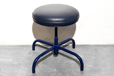 SOLD - Vintage Counter Stool in Marine Blue, circa 1960s