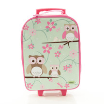 Bobble Art Owl Wheeled Suitcase