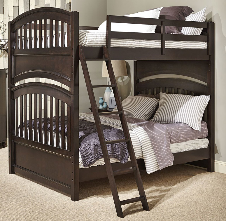 Academy bunk bed full over full in molasses