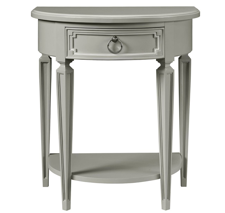 Clementine Court Bedside Table - Grey