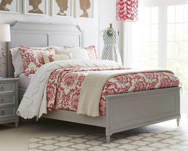 Clementine Court Panel Bed, Full - Grey