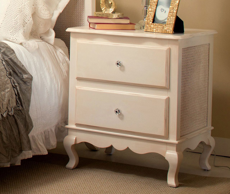 Hilary two drawer night stand