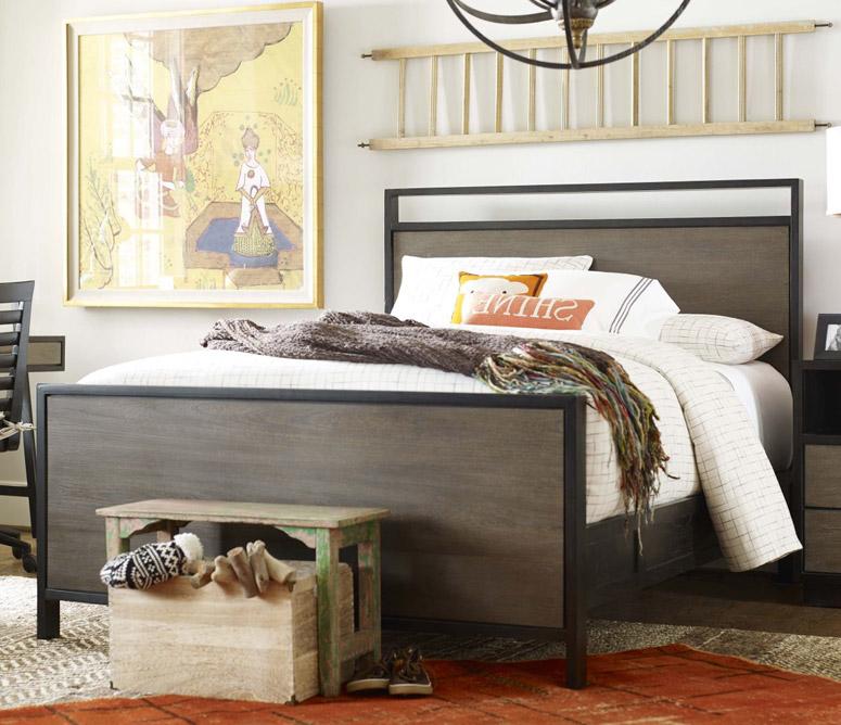 myRoom Panel Bed, Full - Dark