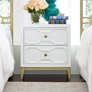 Chelsea Night Stand with Decorative Lattice