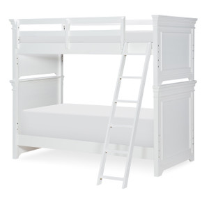 Canterbury Bunk Bed, Twin/Twin - White