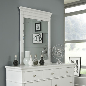 Canterbury Vertical Mirror - White