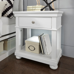 Canterbury Open Night Stand - White