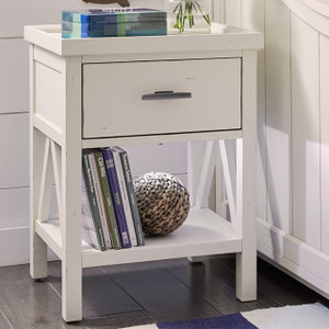 Lake House Open Night Stand - White