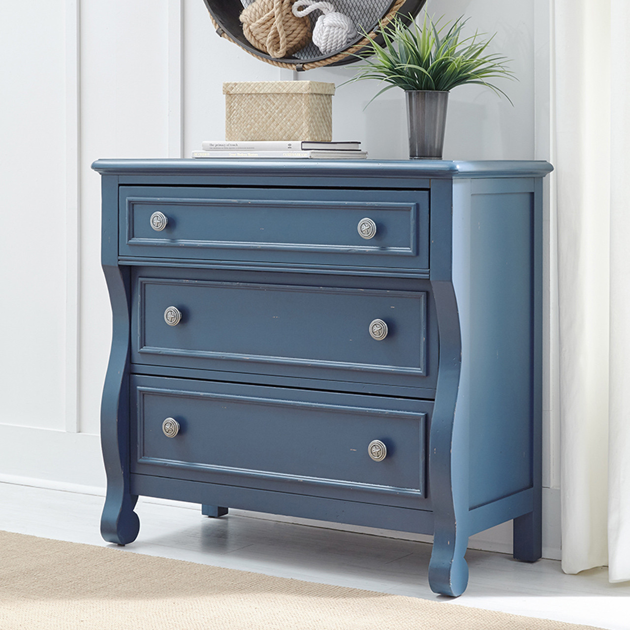 Lake House Accent Chest, Blue   Country Willow Kids