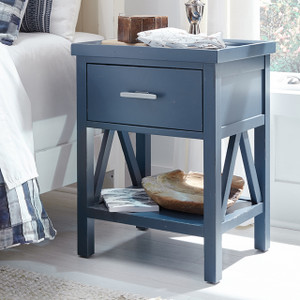 Lake House Open Night Stand - Blue