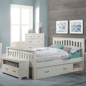 Montauk Slat Bed, Full - White