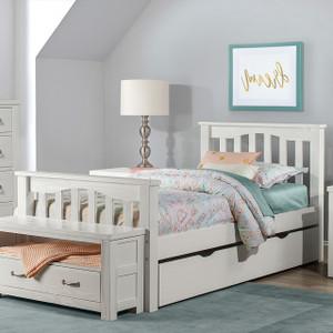 Montauk Slat Bed, Twin - White