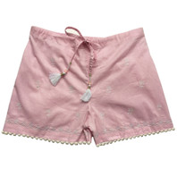 Emma Pink Embroidered Girls Short - Pack of 3