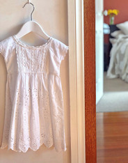 Lace Embroidered Girls' White Dress - Pack of 4