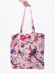 Bird Print Peach Lightweight Cotton Bag - pack of 2