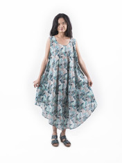 515812 Leaf Green Long Dress
