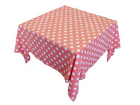 Hail Spot Tablecloth Coral