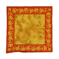 Sahara Napkins Gold with Rust Border