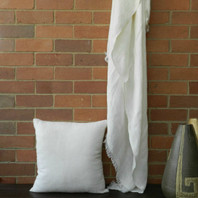 Firth Linen Throw 125X180cm Ivory