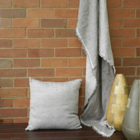 Capri Double Sided Linen Throw Grey/White 125X180cm (Almost Gone!)