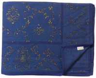 Imperial Gold on Blue Table Cloth Cotton 180cm Round
