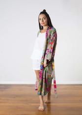 Nicola Kimono Floral Print Taupe (Sold out)
