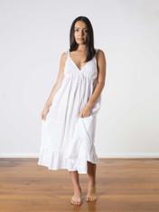 Aliza Cotton Nightdress White (SOLD OUT)