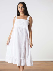 Isabella Cotton Nightdress White (SOLD OUT)
