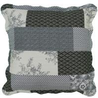 Patchwork Euro Cushion Cover Black/Cream