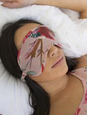 Pack of 2 Bird Print Peach Sleep Mask