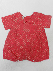 Dotty Red Baby Romper Pack of 2