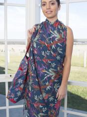 Indigo bird Print Lightweight Cotton Bag Pack of 2