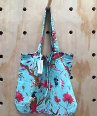 Bird Print Aqua Lightweight Bag - Pack of 2
