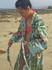 Bamboo Print Sky Blue Kimono (sold out!)