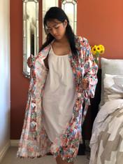 A Leaf Orange Kimono