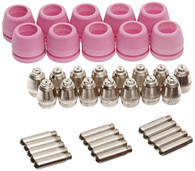 Set of Nozzle Electrode and Cup 40pc PCON40 for LTP5000D, LTP6000, LTPDC2000D