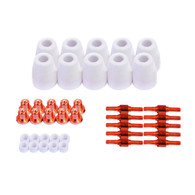 Set of Nozzle Electrode Cup and Ring 40pc LCON40 for LT5000D, CT520D, LT3500