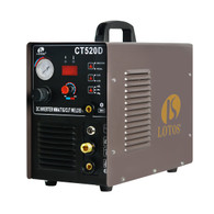 Lotos CT520D 50 AMP Air Plasma Cutter, 200 AMP Tig and Stick/MMA/ARC Welder 3 in 1 Combo Welding Machine , ½ Inch Clean Cut, Brown