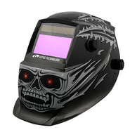 Welding Helmet Demon Skull Solar Power Auto Darkening Adjustable - Perfect for Plasma Cut Gouge, ARC TIG MIG Weld & Grinding