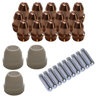 Lotos LCS33 Plasma Cutter Consumables Sets for Brown Color LT5000D and Brown Color CT520D, 33 Pieces