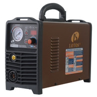 Lotos LTP5500D-CNC Plasma Cutter, Non-Touch Pilot Arc CNC Enabled Plasma Cutter, Digital Control, THC Torch Height Control, Dual Voltage 110V/220V, 3/5 inch Clean Cut, Brown (55AMP CNC)