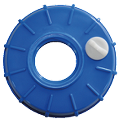 Dura 6″ Manual Vented Lid with 2″ Buttress Bung for IBC Totes | DP-C4004B-E AG