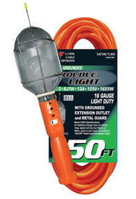U.S. Wire 50' 3-Conductor Trouble Light with Metal Cage   TL550