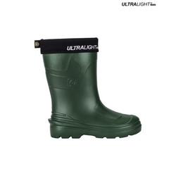 Ultralight Ladies Rubber Rain Boots, Green   MONTANA