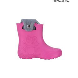 Ultralight Children's Rubber Rain Boots, Pink   FROGGY-PK