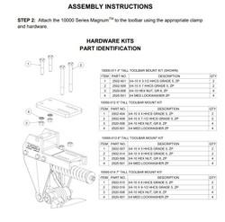 "Yetter 6"" Tall Toolbar Mount Hardware Kit | 10000-013"