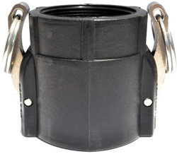 """CamLever (D) 4"""" Female Coupler X 4"""" Female Thread Poly Coupling   400D"""