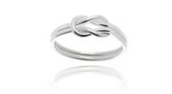 925 Sterling Silver Love Knot Women Wedding Ring