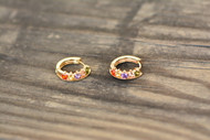 18K Gold Crown Zircon AAA Designer Brass Earrings