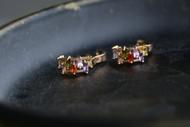 18K Gold Rainbow Zircon AAA Designer Brass Earrings